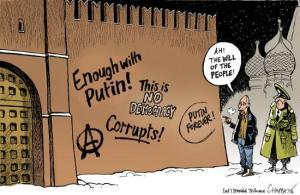 Scritte anti-Putin in una vignetta (Fonte immagine: paperblog.com)