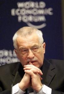 L'attuale Capo dello Stato della Repubblica Ceca, Vaclav Klaus (fonte immagine: Flickr/World Economic Forum)