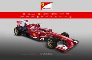 La nuova Ferrari F-138, presentata a Maranello. Sarà l'anno del riscatto per Alonso e Massa? (fonte immagine: Sito ufficiale Ferrari)