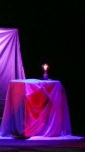 Luci sul palco della Sala Petrassi. Copyright Valentina Palermi. Tutti i diritti riservati