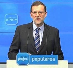 Un momento del discorso televisivo del Presidente Rajoy, sabato scorso (Fonte: El Paìs)