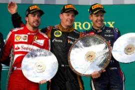 Il podio del Gran Premio d'Australia 2013 (fonte immagine: todoformula1.net)
