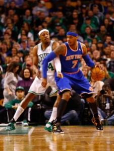Paul Pierce e Carmelo Anthony, New York Knicks contro Boston Celtics: una classica  del basket Nba (fonte immagine: zimbio.com)