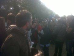 Una delle proteste contro la costruzione del Muos (immagine gentilmente concessa dal comitato No Muos)