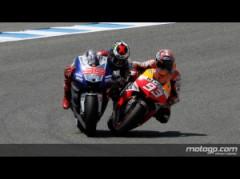 Marquez e Lorenzo a contatto: polemiche tra i due a fine gara (fonte immagine: motogp.com)