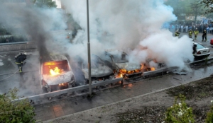 Youths rioted in several different suburbs around Stockholm