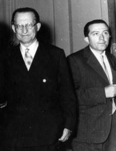 Alcide De Gasperi e Giulio Andreotti nel 1947