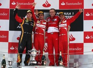 Il podio 2013 del Gp di Spagna (fonte immagine: ultimogiro.com)