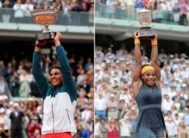 L'esultanza di Nadal e Serena Williams (fonte immagine: sikids.com)