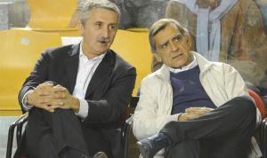Marco Calvani (a sinistra) e Claudio Toti (a destra), presidente della Virtus Roma