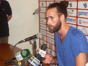 Gigi Datome durante la conferenza stampa al Palazzetto dello Sport (© Stefano Veneziano)