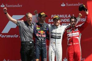 Il podio del Gp di Gran Bretagna (fonte immagine: formula1.com)