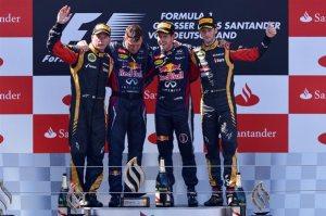 Il podio del Gp di Germania 2013 (fonte immagine: formula1.com)
