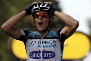 Matteo Trentin, unico italiano a vincere quest'anno al Tour (fonte immagine: tmnews.it)