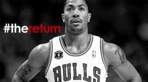 La campagna #thereturn per Derrick Rose (fonte immagine: exquisitesportstalk.wordpress.com)