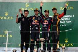 Il podio 2013 di Suzuka (fonte immagine: formula1.com)
