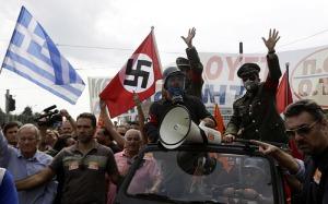 Grecia, proteste in piazza contro la Merkel