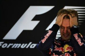 Le lacrime di Vettel dopo la conquista del titolo 2010