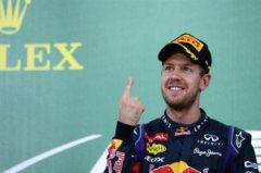 Sebastian Vettel festeggia la sua vittoria numero 9 nel 2013 (fonte immagine: formula1.com)