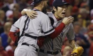 L'esultanza dei Red Sox per la conquista delle World Series