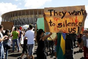 Una manifestazione durante la Confederations Cup del 2013 (fonte immagine: sportmediaset.mediaset.it)