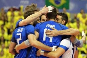 L'esultanza degli Azzurri in Brasile (fonte immagine: FIVB credits)
