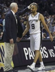 Gregg Popovich e Tony Parker
