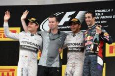 Il podio del Gp di Spagna 2014