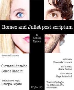 Romeo and Juliet post scriptum