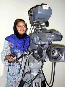 La giornalista pachistana Sadia Haidari