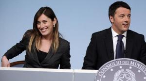Maria Elena Boschi e Matteo Renzi (fonte immagine: lanazione.it)