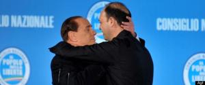 Silvio Berlusconi e Angelino Alfano (fonte immagine: huffingtonpost.it)