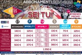 campagna abbonamenti virtus roma 2014-2015