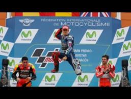 L'esultanza di Jorge Lorenzo sul podio (fonte immagine: motogp.com)