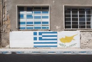Nicosia, murales nella parte greca al confine con quella turca | © Michele Cirillo