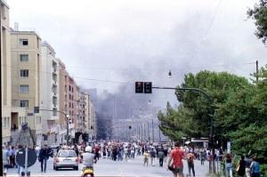 Genova durante il G8 del 2001